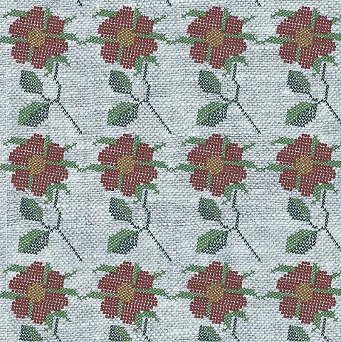 Digital Cross-Stitch Flower