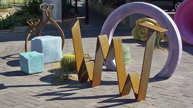 concrete sculptures reveal hidden histories in Old Town Scottsdale