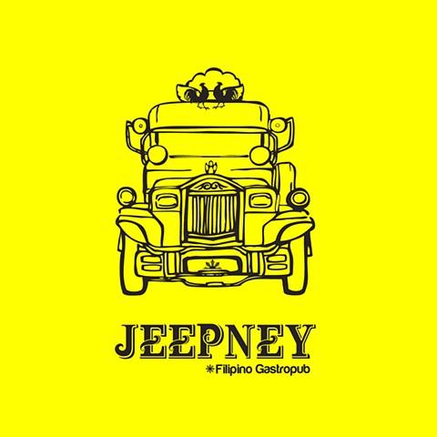 JEEPNEY Filipino Gastropub |http://www.jeepneynyc.com|_*JEEPNEY*_| Jeepney vehicle logo drawing