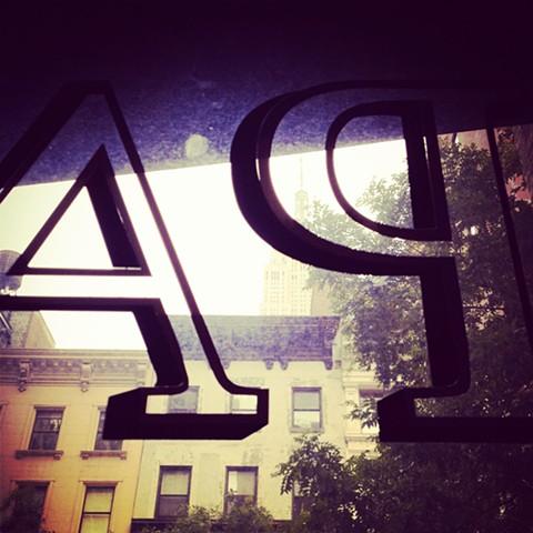 LELABO PopUp at ACE HOTEL Gold leaf storefront signage