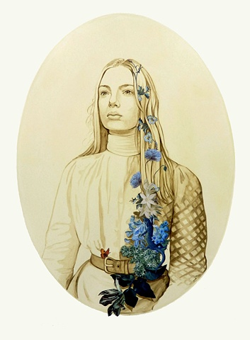 Woman Adorned with Flowers