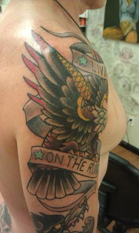 Eagle Tattoo by Mason Hogue