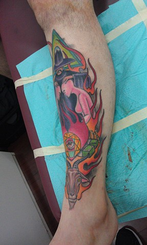 Holy Mountain Tattoo by Mason Hogue