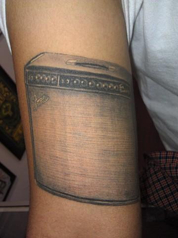 Fender Amp Tattoo by Mason Hogue
