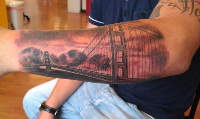 Golden Gate Bridge Tattoo by Mason Hogue