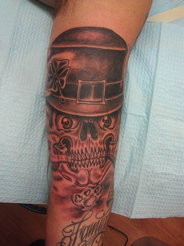 Leprechaun Skull by Mason Hogue