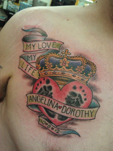 Heart & Crown Tattoo by Mason Hogue