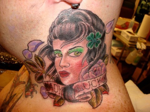 Lady Luck Tattoo by Mason Hogue