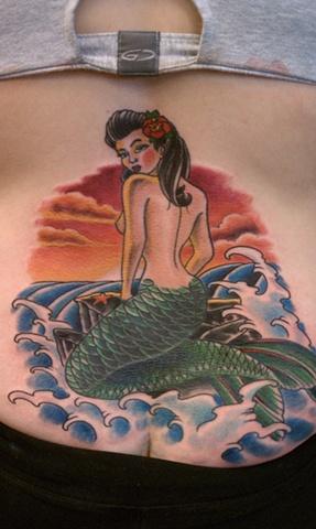 mermaid tattoo, cover up tattoo, mason hogue