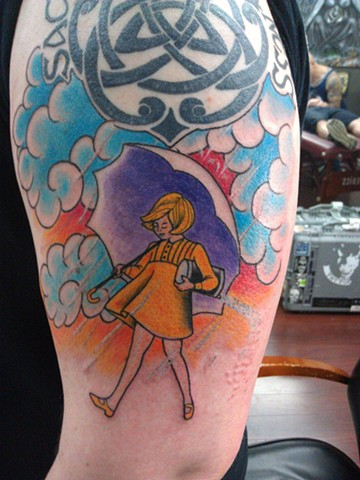 Morton Salt Girl Tattoo by Mason Hogue