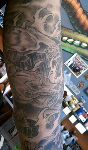 Fox Tattoo by Mason Hogue