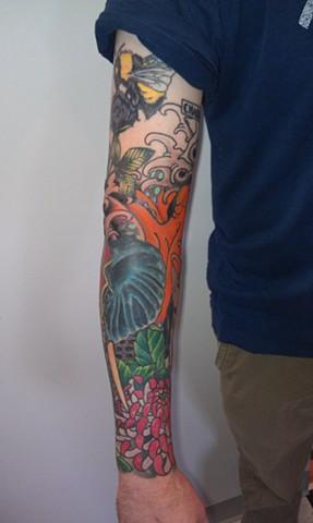 Half Sleeve Tattoo by Mason Hogue