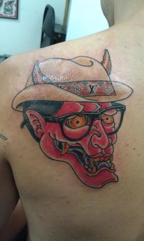 Hipster Hannya Tattoo by Mason Hogue
