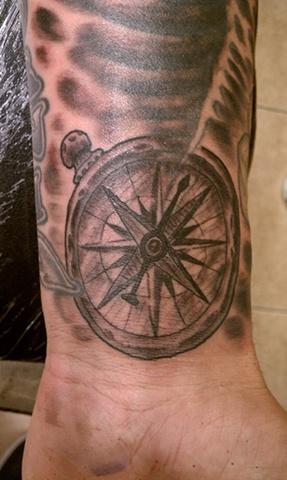 Compass Tattoo by Mason Hogue