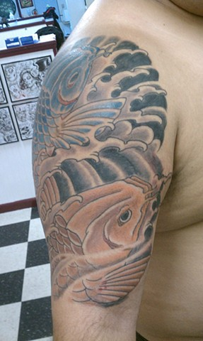 Koi Tattoo by Mason Hogue