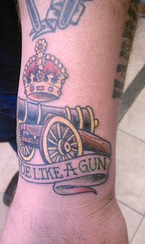 cannon tattoo, Mason Hogue
