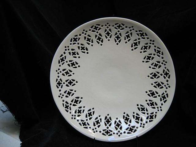 wheel thrown & hand cut porcelain- clear glaze