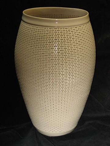 whell thrown & hand cut porcelain