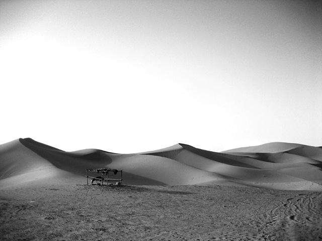 Outside, the desert remains.