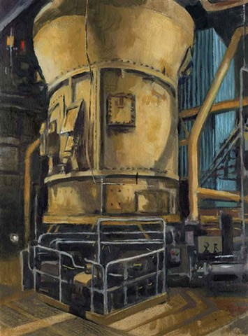 4 Studies of the Coal Fired Power Plant at Boardman, OR (detail, 1 of 4)