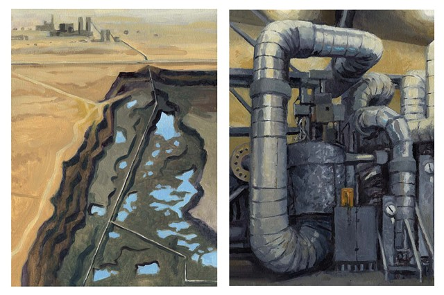 Diptych #10 (Coal Mine and Coal Plant)