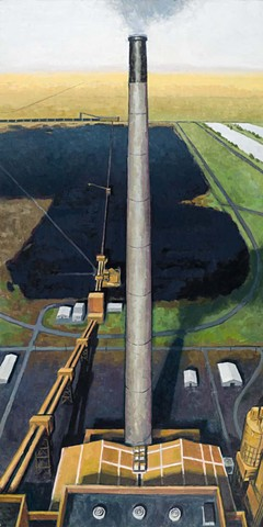 God in the Hearth (left image - coal plant and coal field at Boardman, OR))
