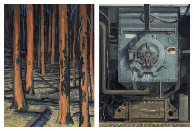 Diptych #11 (Burn and Coal Plant)