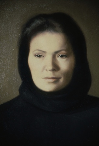 portrait of gina with black hood