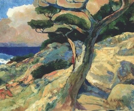 oil painting of coast of California near Pebble Beach