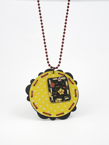 Tin Quilt Necklace