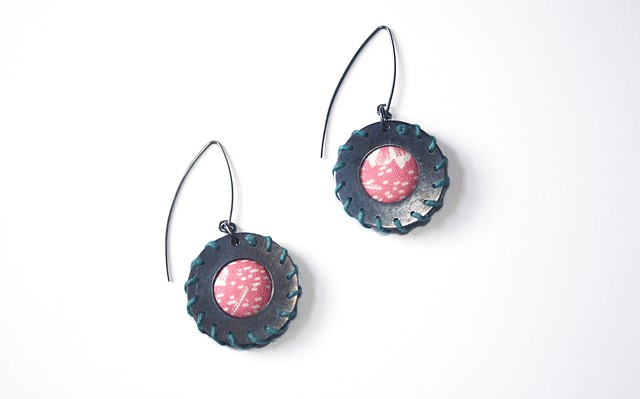 Pink Washer Earrings