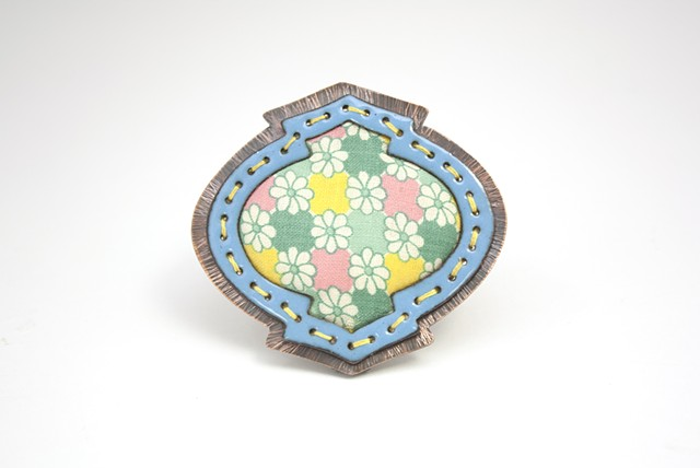 Floral Badge Brooch