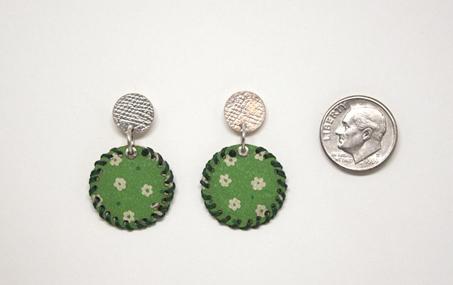 Green Tin Earrings