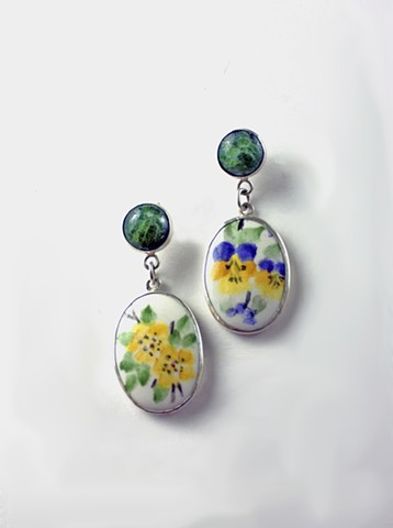 Floral Porcelain Earrings