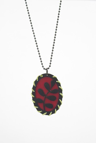 Red Tin Necklace