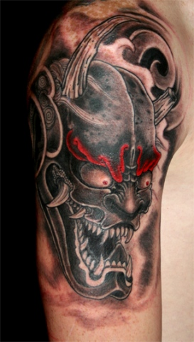Oni - Demon ,black and red