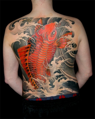 Koi and water - Backpiece
