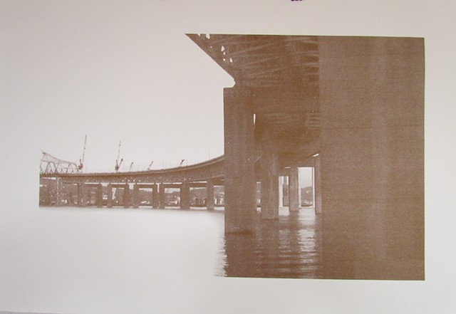Tappan Zee Bridge on BFK paper limited edition 1/4