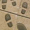 Bronze footprints, Sayre/Osborn, Pheonix, AZ