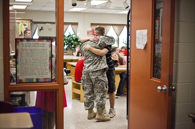 Surprise visit for soldier's son, Hanover, Pa.