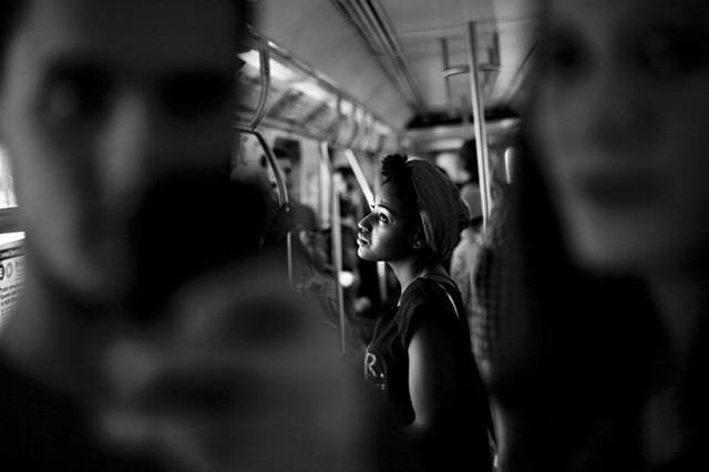 Subway passengers, New York City