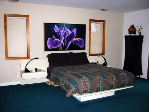 Iris painting in bedroom in Richmond, Virginia