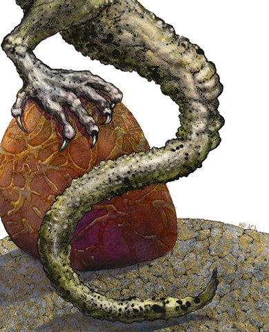 Tail detail of Laughing Dragon