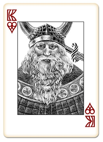 King of Hearts, face card, deck of cards
