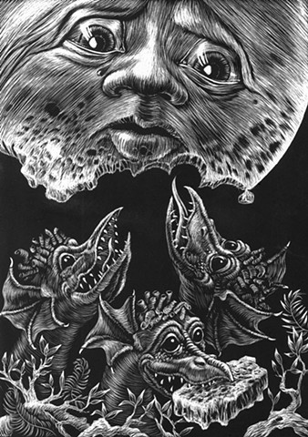 Baby Dragons Eat the Moon
