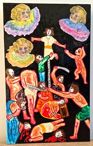 "jenniferbeinhacker.com ""self taught"" ""religious painting"" ""jesus christ"" ""mixed media"" collage ""acrylic painting"" ""water color paint"" ""acrylic paint"" angels women men baby ""church art"" ""primitive art"" ""deviant art"" ""visionary art"" ""outsider art"" ""raw art"""