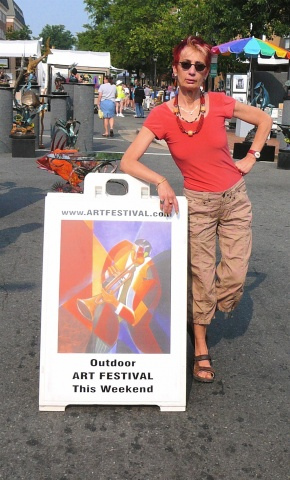 jennifer showing at art festival in alexandria va