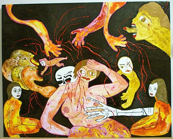 "jenniferbeinhacker.com ""self taught"" ""dialogues of the dead"" ""acrylic painting"" painting surrealism expressionism  """"primitive art"" ""deviant art"" dead death ""folk art"" ""visionary art"" ""outsider art"" ""modern art"" ""contemporary art"" women men children faces"