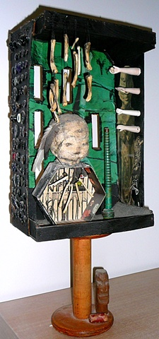 "jenniferbeinhacker.com  assemblage ""self taught"" ""acrylic painting """"acrylic paint"" ""folk art"" ""mixed media"" ""water color paint"" collage ""box art"" ""art in a box"" women men children faces hands dolls surrealism expressionism ""visionary art"" ""primitive art"""