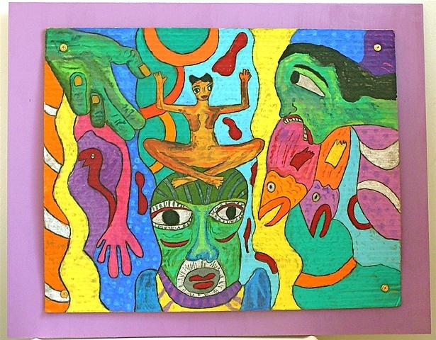 "jenniferbeinhacker.com ""self taught"" pastels ""water soluble pastels"" ""visionary art"" ""outsider art"" "" ""raw art"" ""art brut"" ""naïf art"" ""primitive art"" ""deviant art"" ""modern art"" ""contemporary art"" ""art on cardboard"" men women children fish hands faces chi"
